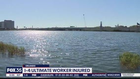 I-4 Ultimate worker injured after fall