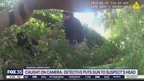 Detective puts gun to suspect's head