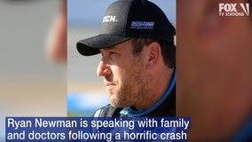 Ryan Newman 'awake and speaking' at hospital following crash