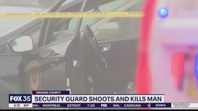 Security guard shoots and kills man
