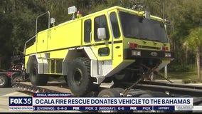 Ocala Fire Rescue donates vehicle to community in Bahamas