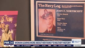 Woman learns more about her family's military history