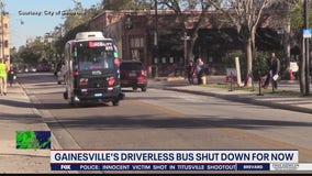 Gainesville shuts down driverless autonomous buses