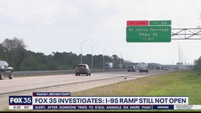FOX 35 Investigates: I-95 ramp still not open