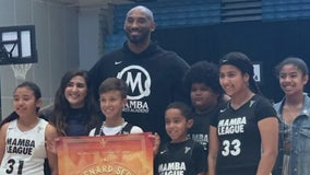 Mamba League youth basketball players thank Kobe Bryant, aim to continue Black Mamba Mentality