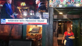 Trump bashes Democratic rivals during pre-Super Bowl show