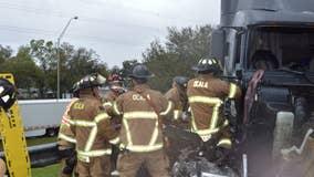 4 taken to hospital after multiple-vehicle crashon I-75 in Ocala