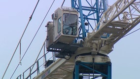 Crews prepare for high winds that could pose dangerous conditions at construction sites