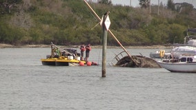 Derelict boats being removed from Indian River
