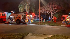 Mother, twins escape massive house fire in Winter Park ; firefighters rescue family dog