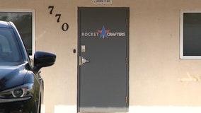 Rocket engine test mishap sends debris flying