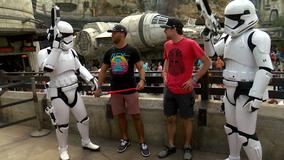 NASCAR drivers visit 'Star Wars: Galaxy's Edge' at Disney