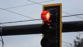 Traffic light installed to honor two teens killed in crash