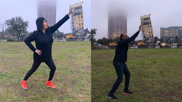 'Leaning Tower of Dallas' demolition with tiny wrecking ball captivates thousands online
