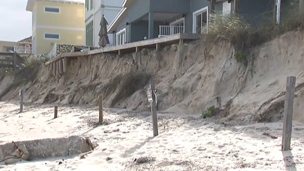Cold front delivers wind that could bring beach erosion