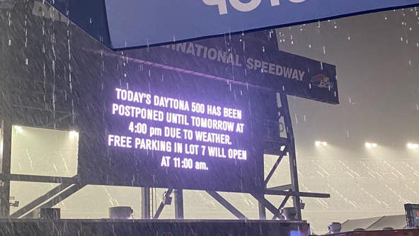 Daytona 500 postponed until Monday at 4 p.m. due to weather