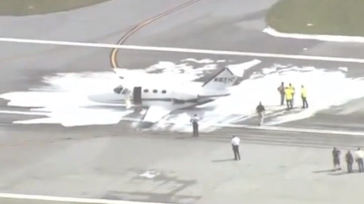Runways shut down after small plane lands on belly at Daytona Beach airport