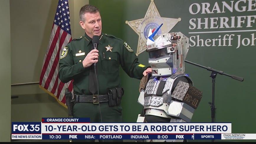 Boy gets wish to become robot super hero
