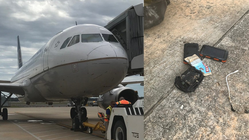 Plane makes emergency landing at Florida airport after battery catches fire in passenger's bag, airport says