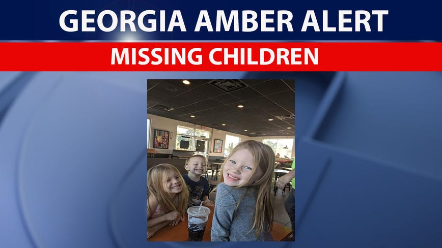 Amber Alert issued for 3 abducted Georgia children