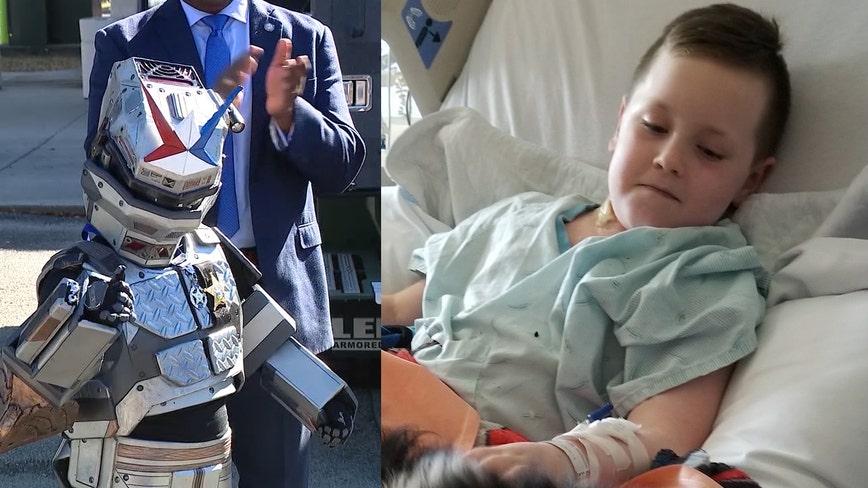 Critically ill Florida boy saves the day as 'robot superhero'