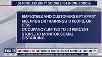 Seminole County social distancing order in place