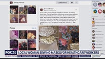 Sewing masks for healthcare workers