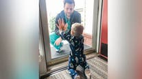 Dad treating patients at high risk hospital shares touching moment with son: 'We miss him'