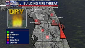 Central Florida experiences high fire threat amid very dry conditions