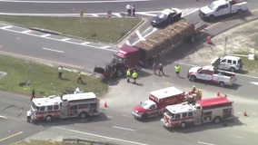 Woman seriously injured after sod truck hits her in Orlando, FHP says