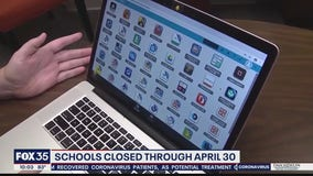 Schools conduct remote learning through end of April