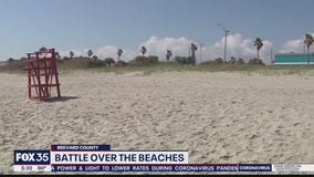 Battle over closing beaches in Brevard County