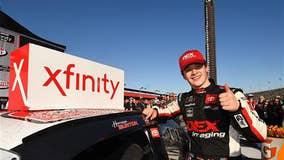 Harrison Burton claims 1st Xfinity Series win at Fontana