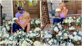 Brookhaven couple cancels wedding, donates flowers to cheer people up