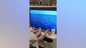 Retired Australian couple recreates canceled cruise in their living room