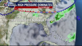 Where are the cold fronts? Definitely NOT in Florida!