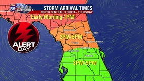 FOX 35 Severe Weather Alert Day Thursday: Strong thunderstorms, isolated tornado possible