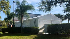 AdventHealth installs outdoor tents to prepare to treat COVID-19 patients