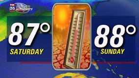 Central Florida temperatures near 90 this weekend