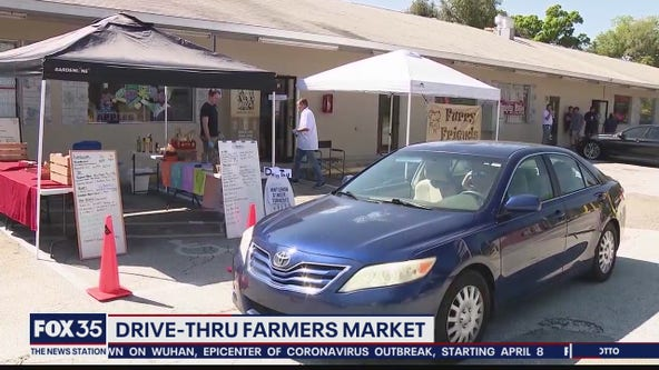 Drive-thru farmers market