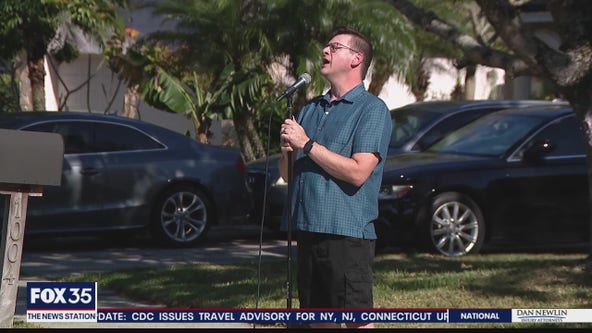 'A little hope and a little happiness': Oviedo man sings on front lawn for neighbors