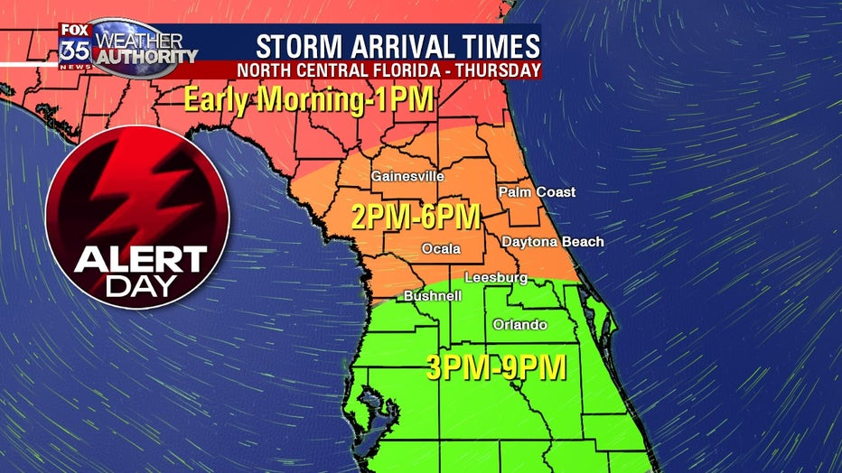 FOX 35 Severe Weather Alert Day Thursday: Strong ...