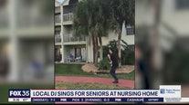 Local DJ sings for seniors in nursing home