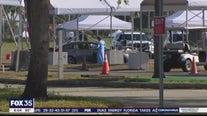 Big crowds wait at testing site in Orange County