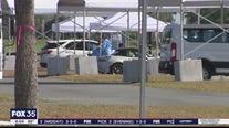 Big crowds at testing sites