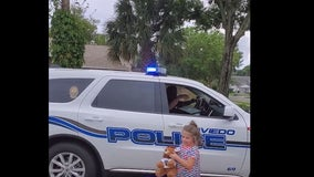 6-year-old gets birthday surprise from Oviedo Police Department