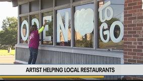 Artist helping local restaurants