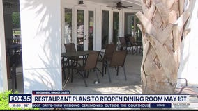 Restaurant says it will open May 1