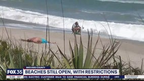 Some Brevard beaches still open with restrictions