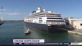 Ill-fated cruise ships get permission to dock in Florida